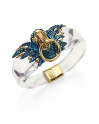 Alexis Bittar - Metallic Lucite Liquid Visage Collection Feathered Parrot Bracelet - Lyst