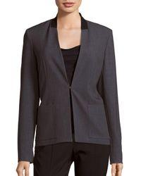 T Tahari - Gray Farley Long Sleeve Jacket - Lyst