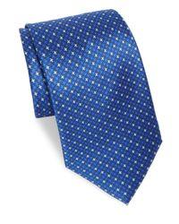 Brioni - Blue Azure Houndstooth Silk Tie for Men - Lyst