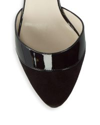 Giorgio Armani - Black Buckled Leather D'orsay Pumps - Lyst