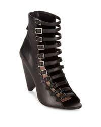 BCBGeneration - Black Alise Caged Sandals - Lyst