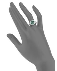 Judith Ripka - Metallic La Petite Paraiba Spinel, White Sapphire & Sterling Silver Ring - Lyst