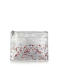 Maison Margiela - Metallic Paint Splatter Zip Pouch - Lyst