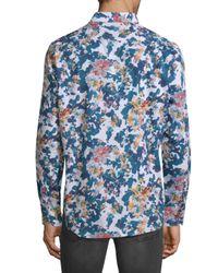 Robert Graham - Blue Paril Creek Printed Cotton Button-down Shirt for Men - Lyst