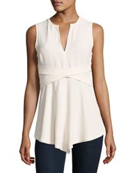 Proenza Schouler | White Solid Split V-neck Top | Lyst