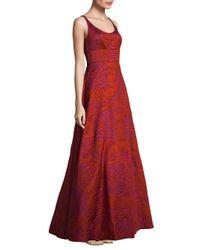 Aidan Mattox - Textured Floor-length Gown - Lyst