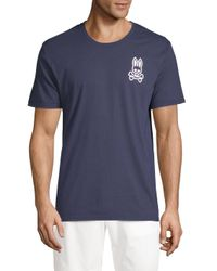 Psycho Bunny - Blue Bunny Crewneck Lounge Tee for Men - Lyst