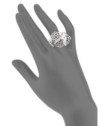 Ron Hami - Metallic Silver Lining White Topaz & Sterling Silver Ring - Lyst