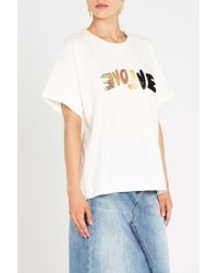 Sass & Bide - White Love Rules Tee - Lyst