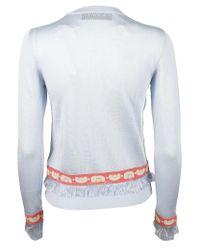 Carven - Multicolor Cardigan In Viscose Knit - Lyst