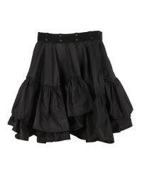3.1 Phillip Lim - Black Flamenco Mini Skirt - Lyst