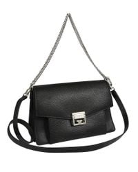 Givenchy - Black Gv3 Foldover Chain Crossbody Bag - Lyst