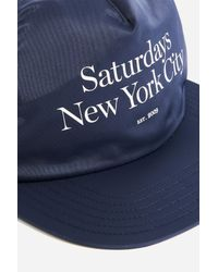 Saturdays NYC - Blue Stanley Miller Satin Hat for Men - Lyst