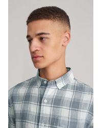 Saturdays NYC - Blue Crosby Madras Button Down Shirt for Men - Lyst
