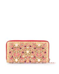 Christian Louboutin - Multicolor Panettone Metallic Gold Wallet - Lyst