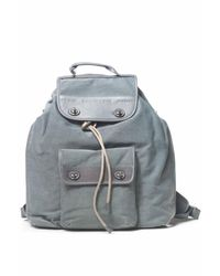 Mandarina Duck - Gray Leather Rucksack - Lyst