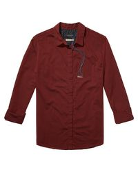 Scotch & Soda - Red Boxy Shirt - Lyst