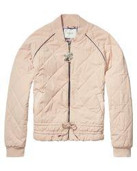 Scotch & Soda - Pink Amsterdams Blauw Bomber Jacket - Lyst