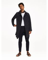 Scotch & Soda - Blue Double Breasted Trench Coat for Men - Lyst