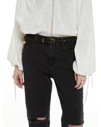 Scotch & Soda | Black Braided Leather Belt | Lyst