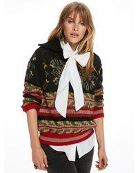 Scotch & Soda - Multicolor Jacquard Anorak Knit Sweater - Lyst