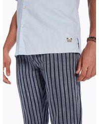 Scotch & Soda - Blue Short Sleeved Oxford Shirt for Men - Lyst