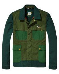 Scotch & Soda - Green Mixed Field Jacket for Men - Lyst