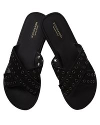 Scotch & Soda - Black Suede Wrap Sandals - Lyst