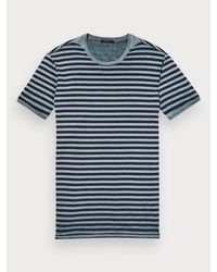 Scotch & Soda - Blue Washed Tee for Men - Lyst