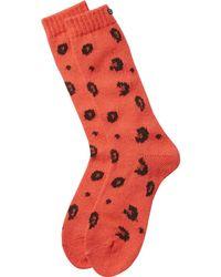 Scotch & Soda - Red Chunky Animal Socks - Lyst