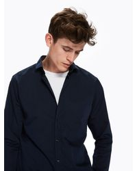 Scotch & Soda - Blue Basic Shirt Slim Fit for Men - Lyst