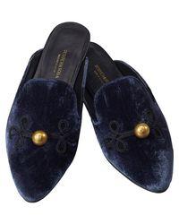 Scotch & Soda - Blue Velvet Slip-on Loafers - Lyst
