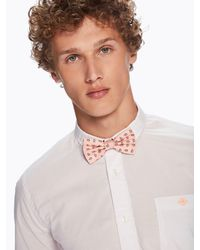 Scotch & Soda - Pink Printed Bow Tie for Men - Lyst