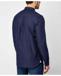 Lyle & Scott - Blue Long Sleeve Oxford Shirt for Men - Lyst