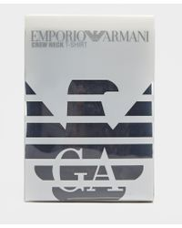 Emporio Armani - Blue Back Eagle Short Sleeve T-shirt for Men - Lyst