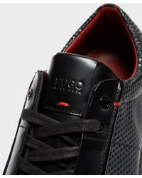 HUGO - Black Post Future Trainers for Men - Lyst