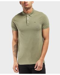 3d261904 Lyst - Tommy Hilfiger Basic Flag Short Sleeve Polo Shirt in Green ...