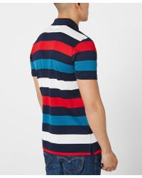 Paul And Shark - Blue Multi Stripe Polo Shirt for Men - Lyst