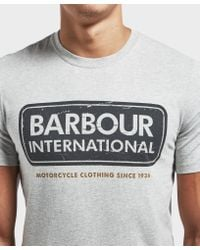 Barbour - Gray International Logo Short Sleeve T-shirt for Men - Lyst
