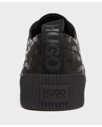 HUGO - Black Zero 10 Print Trainers for Men - Lyst