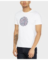 Pretty Green - Multicolor Camley Paisley Logo T-shirt for Men - Lyst