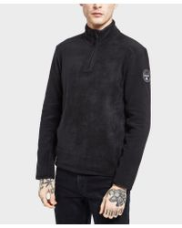 Napapijri - Black Tambo Half Zip Sweatshirt for Men - Lyst