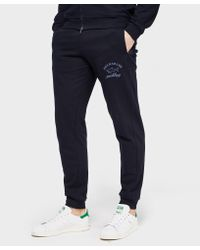 Paul And Shark - Blue Cuffed Fleece Pant - Exclusive for Men - Lyst