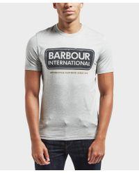 Barbour - Gray International Logo Short Sleeve T-shirt for Men - Lyst