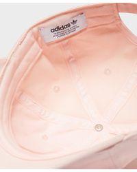 Adidas Originals - Pink Trefoil Classic Cap for Men - Lyst