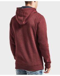 Tommy Hilfiger Red Overhead Logo Hoodie for men