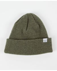 Norse Projects - Green Signature Beanie for Men - Lyst