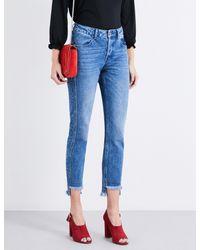 Claudie Pierlot - Blue Pegase Stepped-hem Slim High-rise Jeans - Lyst