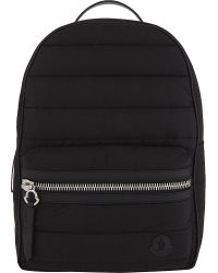 Moncler - Black George Padded Nylon Backpack for Men - Lyst