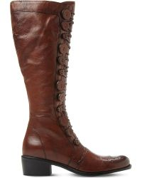 Dune | Brown Pixie D Leather Knee-high Boots | Lyst